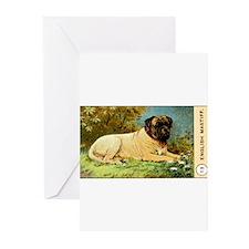 Antique 1908 English Mastiff Dog Cigarette Card Gr