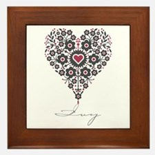 Love Ivy Framed Tile