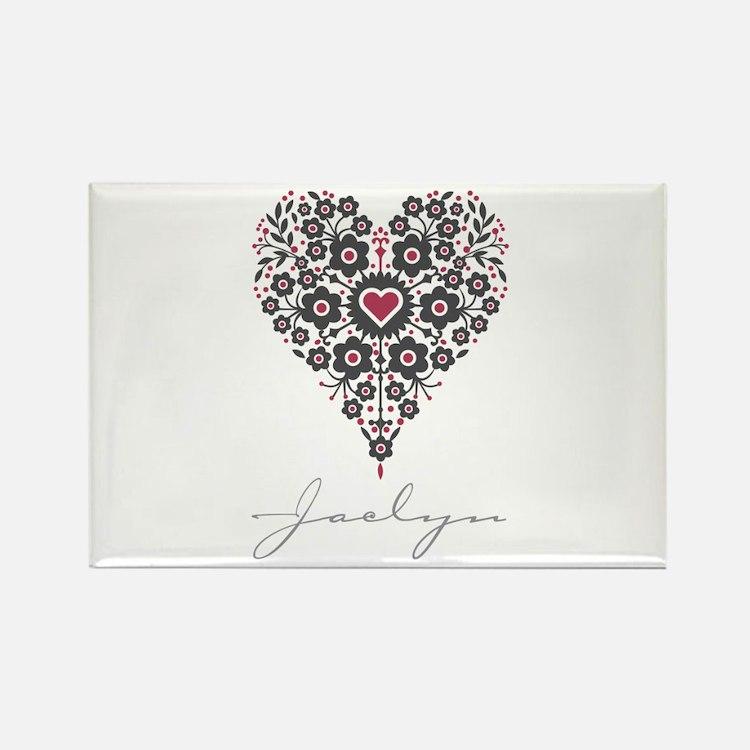 Love Jaclyn Rectangle Magnet