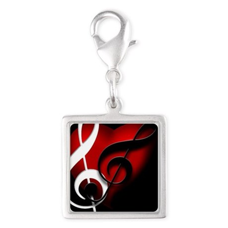 HeartandClefs.jpg Silver Square Charm