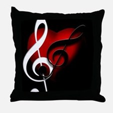 HeartandClefs.jpg Throw Pillow