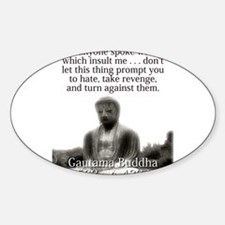 If Anyone Spoke Words - Buddha Decal