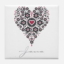 Love Jana Tile Coaster