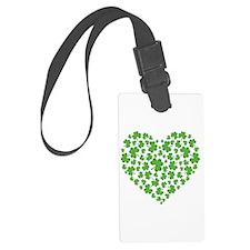 3-My Irish Heart 1 SHAMROCKS copy.png Luggage Tag