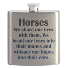 Importance of Horses Flask