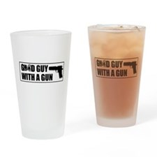 Good Guy with a Gun Drinking Glass