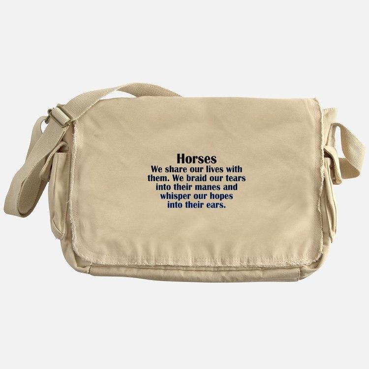 Importance of Horses Messenger Bag
