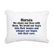 Importance of Horses Rectangular Canvas Pillow