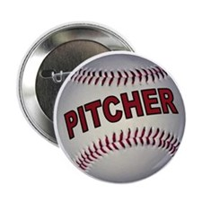 "BASEBALL PITCHER 2.25"" Button"