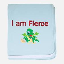 I am Fierce baby blanket