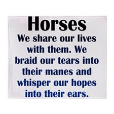Importance of Horses Throw Blanket