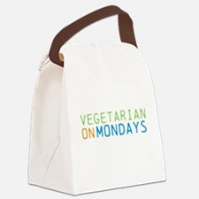 Vegetarian on Mondays Canvas Lunch Bag