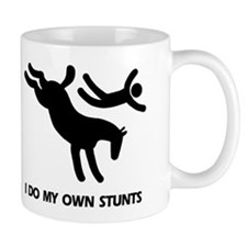 Horse I Do My Own Stunts Small Mug