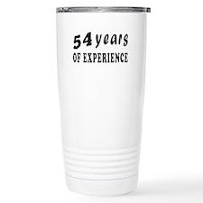 54 years birthday designs Travel Mug