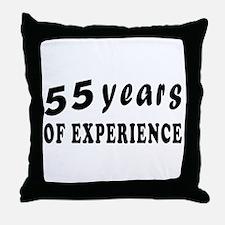 55 years birthday designs Throw Pillow
