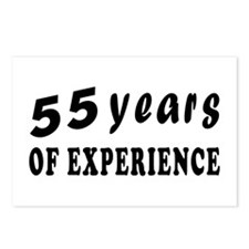 55 years birthday designs Postcards (Package of 8)