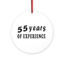 55 years birthday designs Ornament (Round)