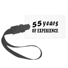55 years birthday designs Luggage Tag