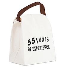55 years birthday designs Canvas Lunch Bag