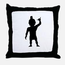 Menehune Silhouette Throw Pillow