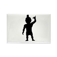 Menehune Silhouette Rectangle Magnet