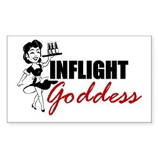 Inflight Goddess Rectangle Decal