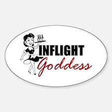 Inflight Goddess Oval Decal