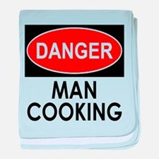 Danger Man Cooking baby blanket