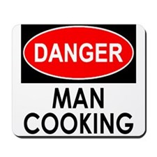 Danger Man Cooking Mousepad
