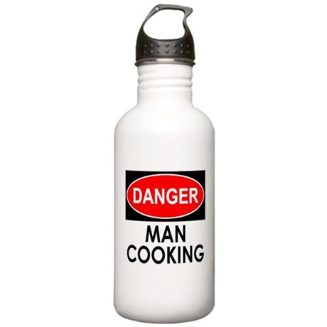 Danger Man Cooking Water Bottle
