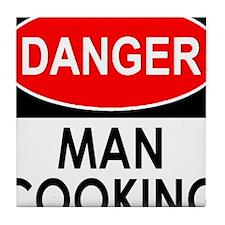 Danger Man Cooking Tile Coaster