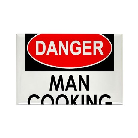 Danger Man Cooking Rectangle Magnet