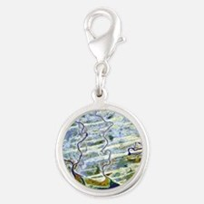 ite image - Silver Round Charm