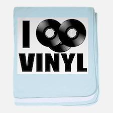 I Love Vinyl baby blanket