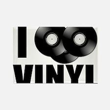 I Love Vinyl Rectangle Magnet