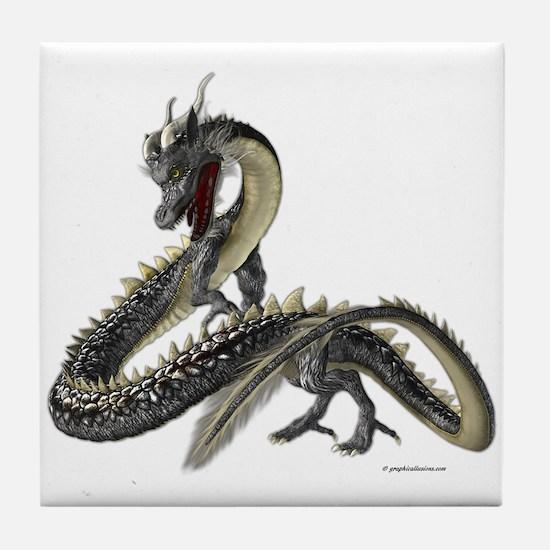 The Silver Dragon Tile Coaster