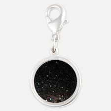 Centaurus constellation - Silver Round Charm