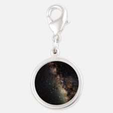 Centre of Milky Way - Silver Round Charm