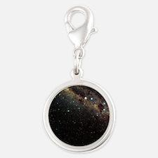 Milky Way - Silver Round Charm