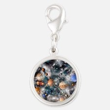 Solar system planets - Silver Round Charm
