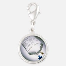 ag - Silver Round Charm