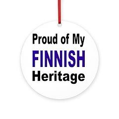 Proud Finnish Heritage Ornament (Round)