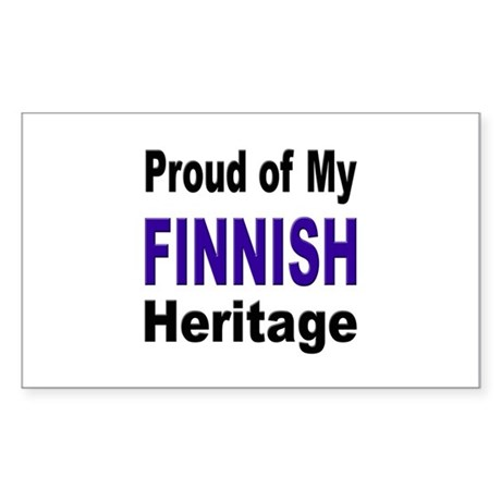 Proud Finnish Heritage Rectangle Sticker