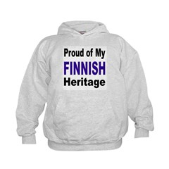Proud Finnish Heritage (Front) Hoodie