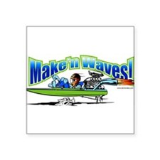 Make'n Waves Rectangle Sticker