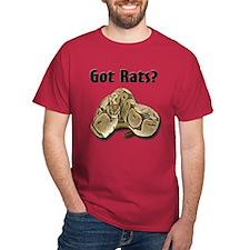 Snake Python2 Got Rats (Cardinal-center) T-Shirt