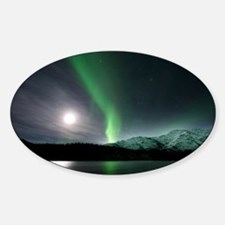 Aurora borealis and Moon - Decal