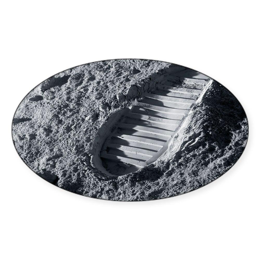 Oval 793186578 CafePress Astronaut Footprint On The Moon Sticker