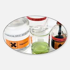 Adding acid to an alkali - Sticker (Oval)