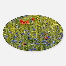 Cornfield meadow in France - Sticker (Oval)